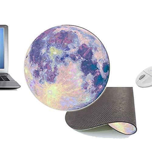 YABAISHI Ola Alfombra Moda Color Redondo Planeta Alfombrilla Alfombrilla Alfombra oficinas artesanías Moda Accesorios para el hogar 200x200mm Estera Almohadilla (Color : D)