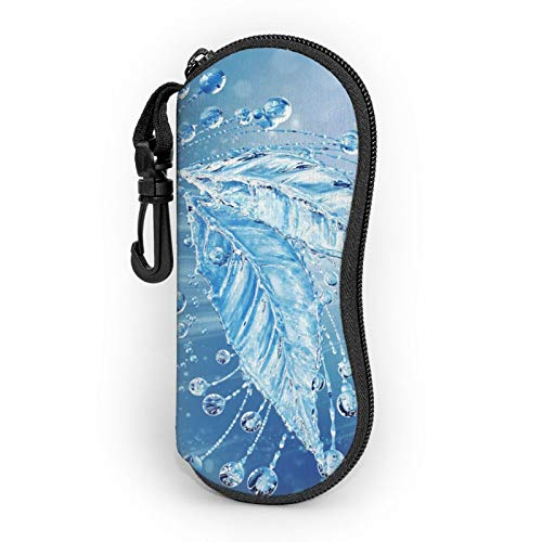 Frozen Leaf Bubbles Ocean Water Funda para gafas de sol de agua suave para mujeres y hombres, funda de neopreno ultra ligera con...