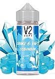 V2 Vape Shake and Vape hochdosiertes Premium Aroma-Konzentrat zum selber mischen mit Base. Zum direkt dampfen - ohne Reifezeit 20ml 0mg nikotinfrei Eisbonbon