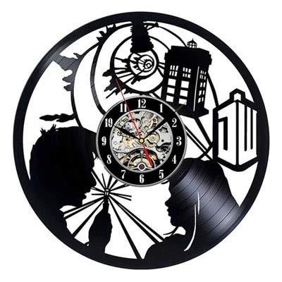LKJHGU Reloj de Pared clásico decoración Retro 3D Disco de Vinilo Reloj de Pared Sala de Estar decoración del Dormitorio