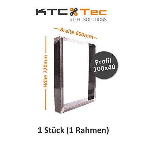 KTC Tec TU100k-600 Tafelonderstel, ruw staal, brede tafelonderstel, tafelonderstel, onderstel, onderstel, (1 frame)