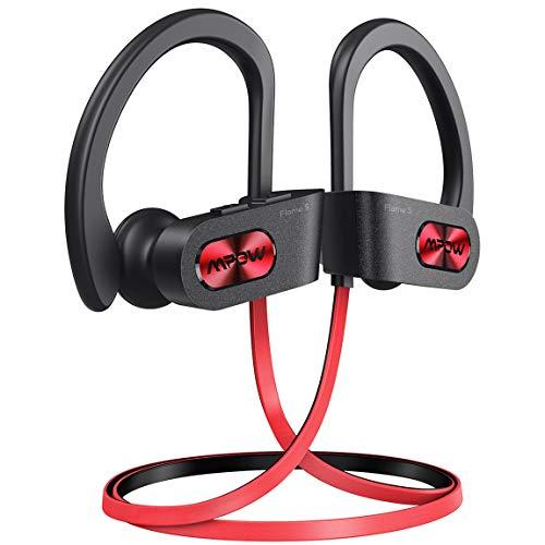 [Upgraded]Mpow Flame S Bluetooth Kopfhörer, Sport-Kopfhörer mit aptX-HD Audio, Bluetooth 5.0/ 12 St&en Spielzeit/ cVc 8.0 Technologie, IPX7 Wasserdicht SportKopfhörer für Laufen/ Joggen