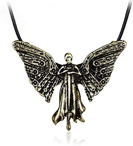 WSBDZYR Co.,ltd Collar de Moda The Mortal Instruments City of Bones Collar Bronce The Infernal Devices Tessa S Clockwork Angel Collares Pendientes para Mujer