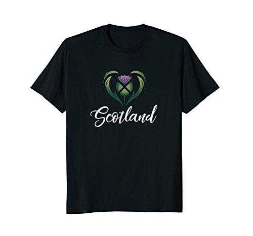 Heart of Scotland Script Thistle Saltire Celtic Shirt