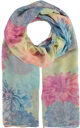 Giorgio Rimaldi Damen Schal mit Floral Design - 70 x 180 cm Größe - Leichter & Hochwertiger Schal mit Blumen-Muster - Perfekt für Frühling und Sommer Gelb