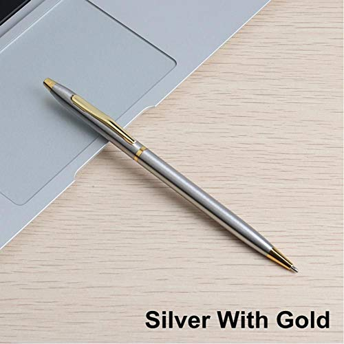 qkdop 1 Stks Metalen Balpen 0,7 Mm Aangepaste Reclame Bal Pen Voor School Gift Set Student Stationery Kantoorbenodigdheden Pens