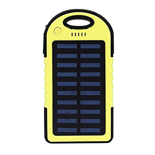 Germerse Carcasa con Carcasa ecológica Que Ahorra energía, Cargador portátil Resistente al Desgaste, batería de Color Solor, con luz LED Teléfono móvil Funciona(Yellow)