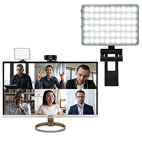 HumanCentric Video Conference Lighting Kit, Camera Light for Zoom Meetings, Streaming Video Face Light, Easy Setup for Remote Work, Computer Monitor or Laptop Light for Video Conferencing