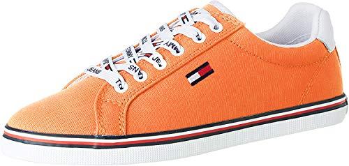 Tommy Hilfiger Damen Essential Lace Up Sneaker, Melon Orange, 40 EU