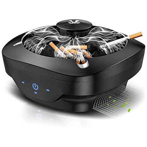 灰皿 スマート空気清浄機 脱臭機 超強い吸引力 卓上 イオン発生器 電子ライター付き スモークレス灰皿 高性能活性炭フィルター搭載 3階段