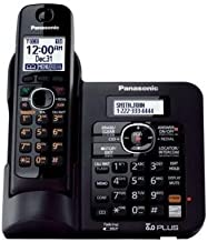Panasonic KX-TG6641B Cordless Phone - 1.90 GHz - DECT - Black - 1 x Phone Line - Answering Machine - Caller ID - Speakerphone - Backlight