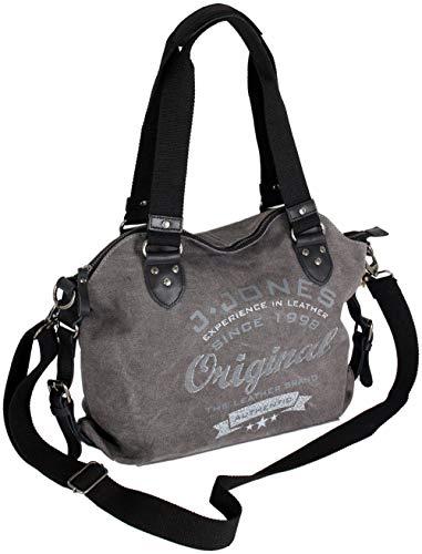 J JONES JENNIFER JONES Damen Handtasche aus Canvs | Schultertasche, Umhängetasche Vintage Look