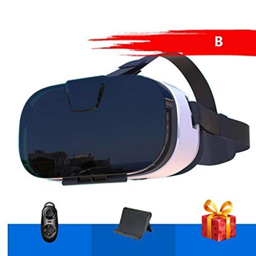 災難眠りアパルリモートコントローラー、テレビ、映画、ビデオゲーム用の3D VRメガネ付きVRヘッドセット-4.5?6.0インチ以内の携帯電話と互換性のあるメガネVRゴーグル,B