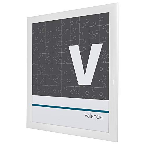 Bilderrahmen für Puzzle ca. 300-500 Teile 36X49cm Weiß (Hochglanz)