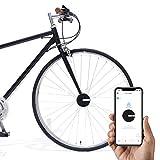 Bisecu Smart Bike Lock - Opération à Distance, Alarme de vol, Notification d'application, Analyse de données en Temps réel, Fonction de Partage Noir