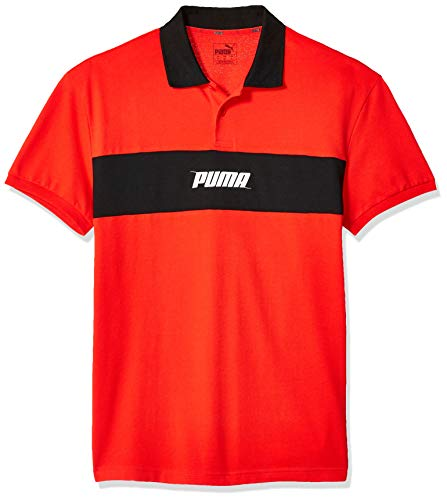 PUMA Men's Rebel Polo, High Risk Red, L