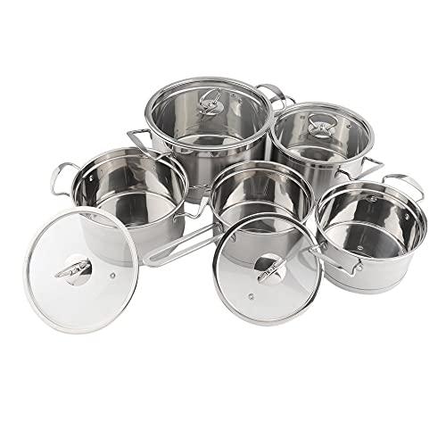 Juego de ollas de cocina de acero inoxidable de 5 piezas, kit de utensilios de cocina para el hogar, utensilios combinados de cocina, accesorios de cocina para el hogar