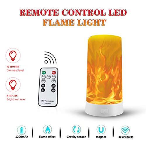 Hihey haard oplaadbare LED tafellamp flikkerende vlam gloeilampen nachtlampje, tafellampen voor thuis/hotel/bardecoratie