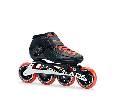 Rollerblade Size Racing Inline Skate, Black/Orange, Size 3.5