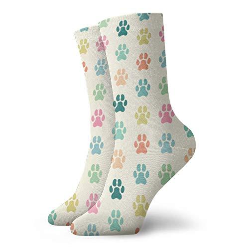 Calcetines de la impresión de la huella del perro, calcetines de la impresión 3d del fútbol Compred calcetines calcetines antideslizantes del deporte para correr