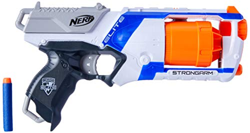Nerf Elite Strongarm Blaster - 6 Dart Slam Fire - 12 Official Darts - Kids & Outdoor Play - Ages 8+
