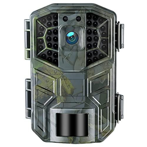 Cámara de caza con 4 K WiFi, cámara de caza, 30 MP, visión nocturna avanzada PIR, detección de disparo 0,3S, estanqueidad IP66 ángulo de vigilancia de 120°, observación de la fauna