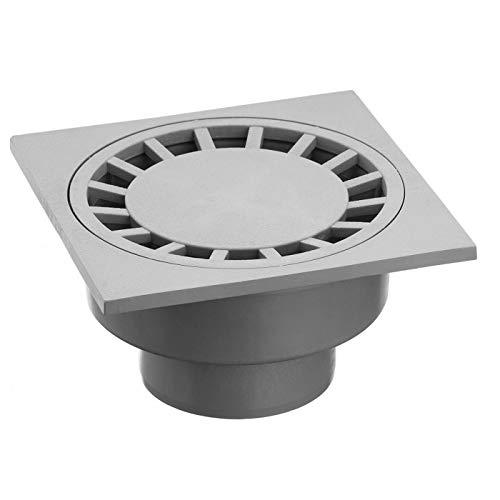 Upmann Bodenablauf universal 100x100 mm mit Geruchsverschluss DN50/75, Farbton:weiß