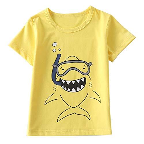 Julhold Peuter Kids Baby Jongens Meisjes Dagelijkse Vrije tijd Kleding Korte Mouw Cartoon Katoen Tops T-Shirt Blouse 1-8Jaar Nieuw