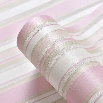 Yosot Semplice Carta Da Parati A Righe Verticali In Tessuto Non Tessuto A Righe Verticali Per Camera Dei Bambini Rosa