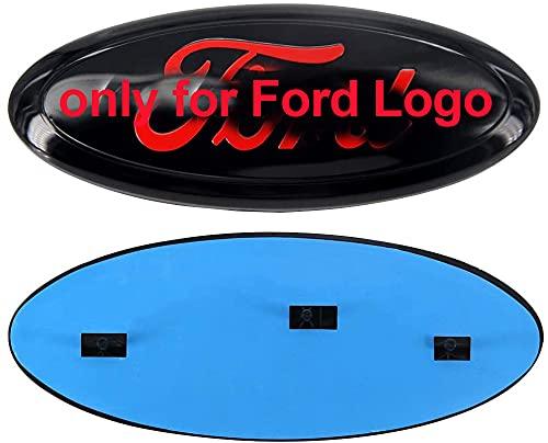 Fd Front Tailgate Emblem, Oval 9'X3.5' Badge Nameplate for 04-14 F150 F250 F350, 11-14 Edge, 11-16 Explorer, 06-11 Ranger(Red)