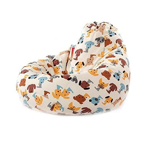 Cubierta de silla de bolsas de frijol, silla de bolsa de sofá lavable, almacenamiento de animales de peluche, cubierta de reemplazo de bolsas de frijoles, adecuado para uso domiciliario para adultos y 🔥