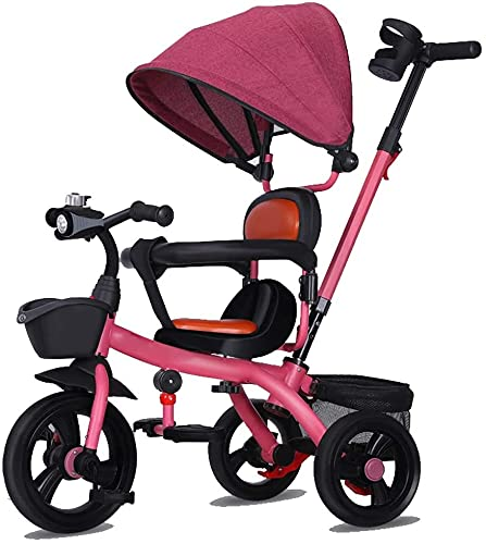 GCXLFJ Triciclo Evolutivo Toral Tricycle Kids Trike, Pedal 3 Rueda NIÑOS NIÑOS NIÑOS NIÑOS DE NIÑOS con HANDA Push PUBLO ROPOBLE DE Tarjeta Asiento Reversible (Color : B)