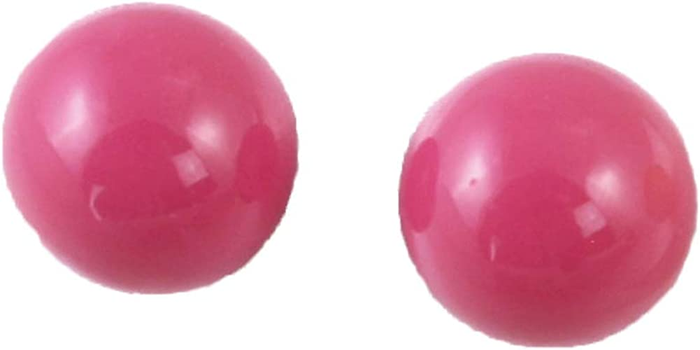 Colorful 80s Ball Earrings - Fun Retro Party Style - New Wave - 3/4