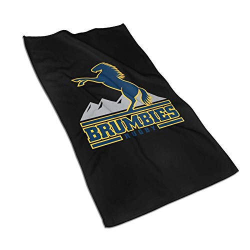 DJNGN Brumbies Logo Rugby Team 5x57in Badetücher Mikrofaser-Duschtuch für den Körper Super Absorbent & Quickdry Handtuchwäsche