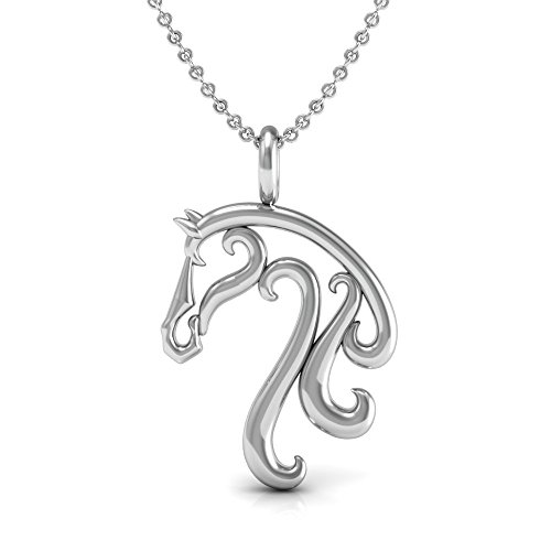 The Best Horse Necklace Gift, 925 Sterling Silver 18 inch Necklace with a Super Cute Horse Riding, Equitation, Equestrian Charm Pendant.