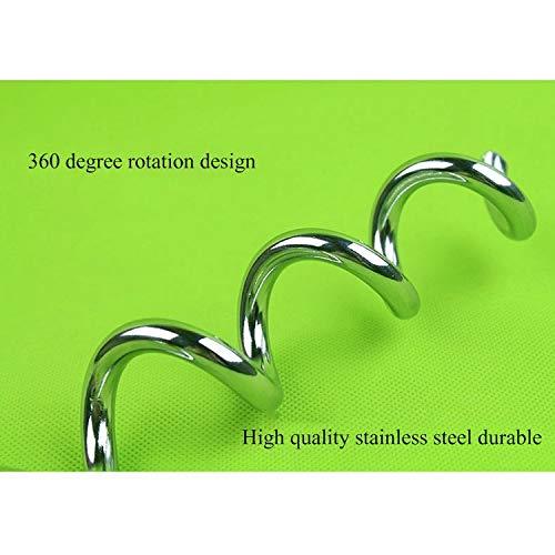 360-Grad-Rotation Anti-Verpackung Fest Stapel im Freien kampierende StakeStainless Stahl Dog Spiral Tie Out Größe: 42cm * 8mm Huangchuxin