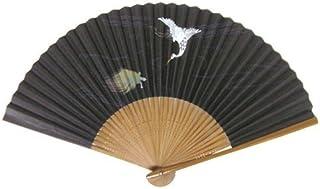 日本の伝統 日本扇子 扇子 親塗 唐木風中彫 男性用扇子 長寿扇子 鶴亀