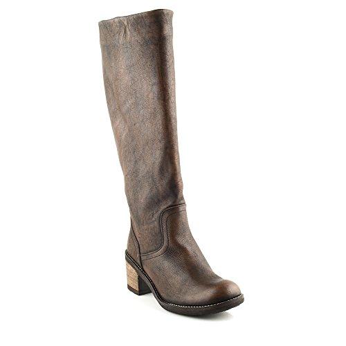 Felmini - Scarpe Donna - Innamorarsi Com Amesterdam 7566 - Stivali Alti Classic - in Pelle Genuina - Marrone - 37 EU Size