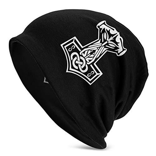 in Odin We Trust Thor Vikings Hammer Mjolnir Norse Celtic Unisex Warm Hat Knit Hat Skull Cap Beanies Cap Black