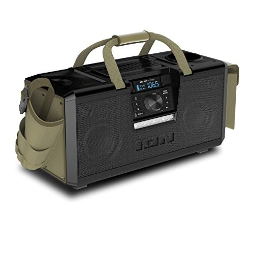 ION Project Rocker – 50W Rechargeable Water-Resistant Wireless Bluetooth Speaker/Boombox With Tool Organizer and AM/FM Radio (PROJECTROCKERXUS)