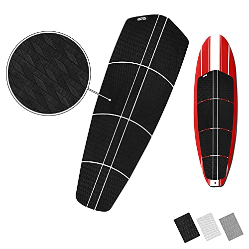 BPS 12-pc EVA Sheet Traction Pad with 3M Adhesives - for Paddleboard, Longboard, and Surfboard (Charcoal Black)