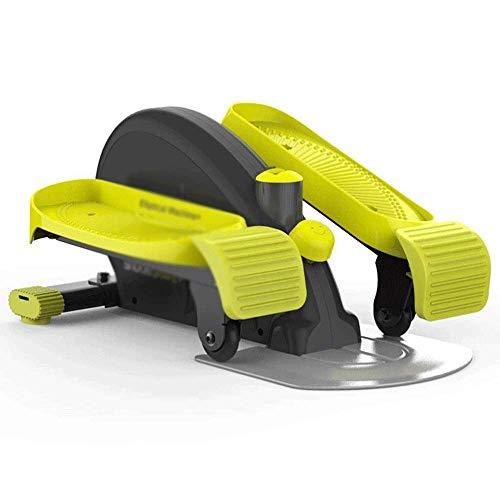Stepper-60X43X30Cm Mini Stepper Elíptico, Stepper Elípticas Debajo del Escritorio para Ejercicio, Pedal De Pedaleo De Escritorio con Diseño Único,Amarillo TDD