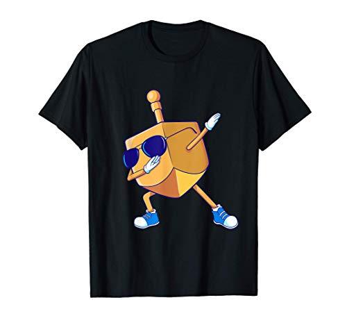 Dabbing Dreidel Hanukkah Dancing Chanukah Kids Girls Boys T-Shirt