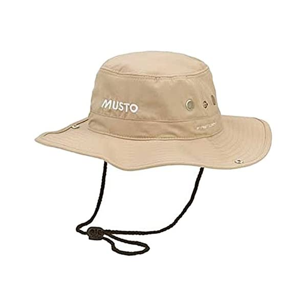 Musto FAST DRY BRIMMED HAT IN Light Stone UV Sun Protection and SPF Properties - Unisex