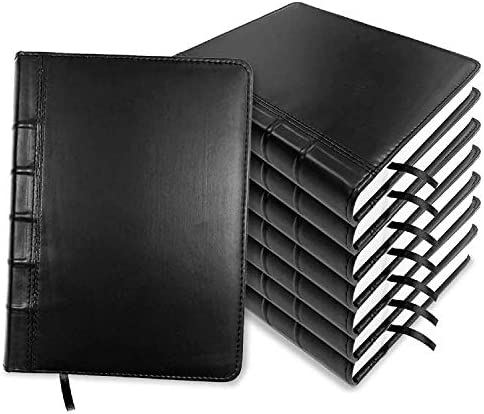IDEO 8pcs Elegant Black PU Leather Notebook with 400 Pages Premium Acid Free Thick Paper 9 53 product image