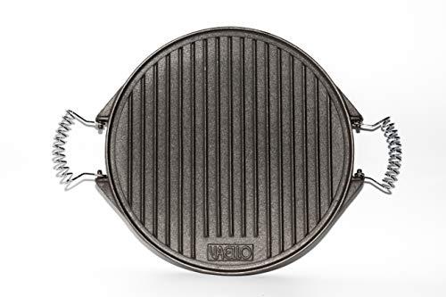 Vaello la Valenciana piastra in ghisa, rotonda, argento, Ghisa, Silver, 32 cm