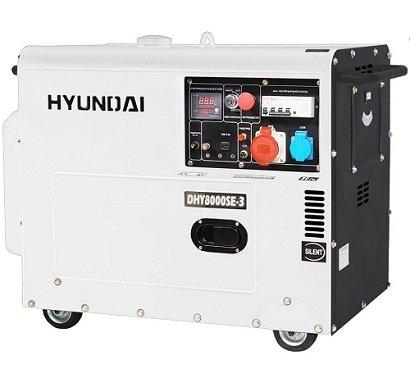 Hyundai dhy8000se-3leiser Diesel Generator Rental.