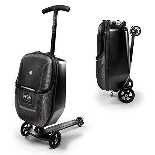 Micro Mobility - Micro Luggage 3.0, Equipaje- Maletas Hombre, Negro,