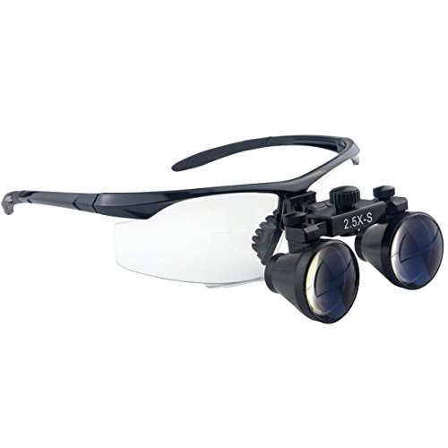 Spark 拡大鏡 2.5倍に拡大でき 専門 歯科用 精密280-380mm調整でき ヘッドルーペ メガネルーペ 折りたたみができ 製作 機械 作業 生物研究 開発 手術 歯科 医用 医者 眼科 外科にも使える 拡大鏡 虫眼鏡 双眼ルーペ 時計見ルーペ