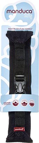 manduca Size-It Stegverkleinerer für manduca Babytrage & andere Komfort-Tragen (als Bauchtrage ab Geburt). Weicher (Ersatz)-Brustgurt für Rückentrage, schwarz